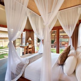 luxury villa ubud bed
